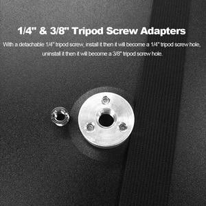 """Image 3 - Bandeja para proyector de aleación de aluminio, soporte para trípode, plataforma con correa elástica desmontable para tornillo de trípode de 3/8 """"y 1/4"""""""