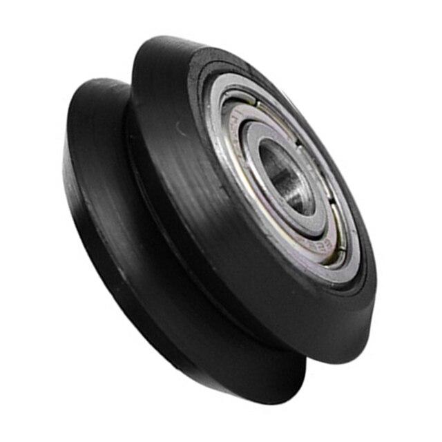 5Pcs / Slot CNC Wheel Pulleys Ball Bearing V Type CNC Wheel Bearing 3D Printer Parts Round Gear Perlin Part For 3D Ender-3 Parts
