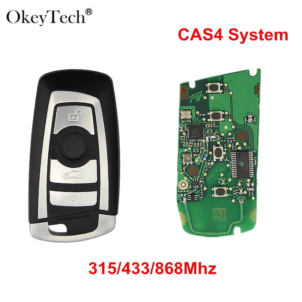 Okeytech 4 Buttons Smart Car Remote Key Keyless For BMW 3 5 7 Series FEM CAS4+System 315/433/868Mhz PCF7949/53 ChipOkeytech 4 Buttons Smart Car Remote Key Keyless For BMW 3 5 7 Series FEM CAS4+System 315/433/868Mhz PCF7949/53 Chip