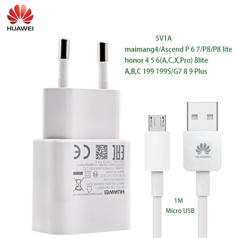 HUAWEI P8 G9 lite usb Charger 5V1A Micro USB Data Cable Wall Travel adapter adaptieve maimang4 P6 P7 P8 honor 4 5 6 G7 8 9 Plus