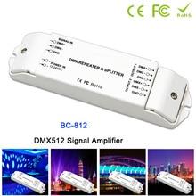BC-812 DMX512 Signal power repeater DMX Power amplifier 1 to 2 channel output DMX power splitter DMX led controller,DC12V -24V