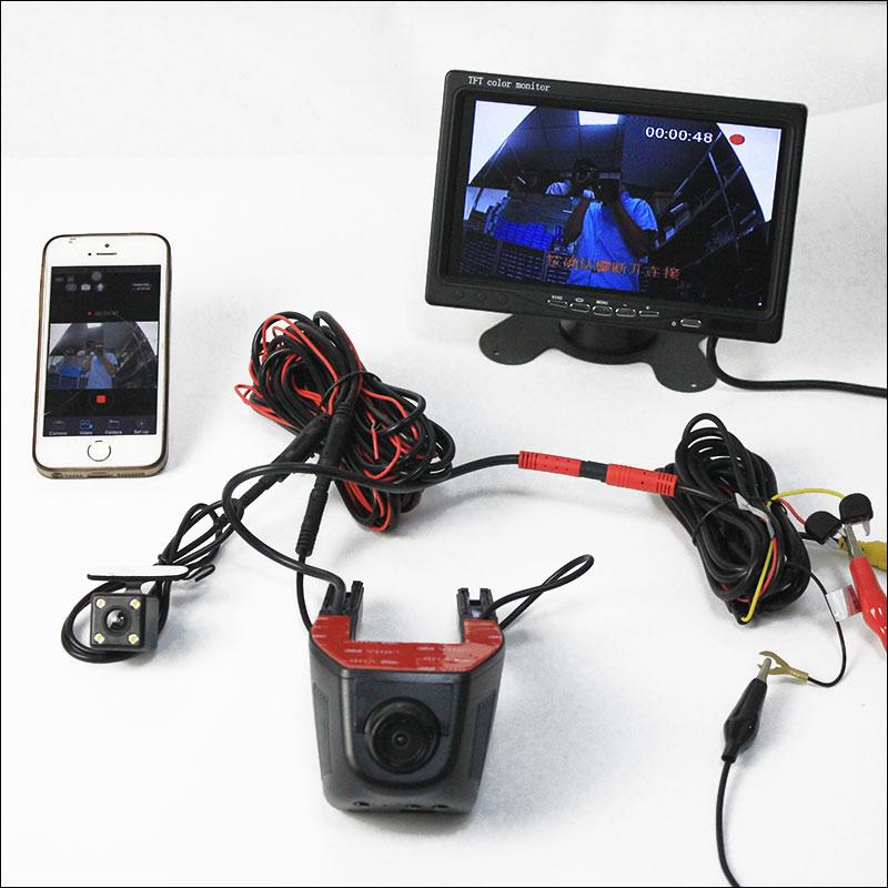 BigBigRoad For GEELY EMGRAND Car Dash Cam APP Control Car Wifi DVR Hidden Installation Novatek 96658 Dual Camera Car Black Box лестница для батута larsen ss 018l