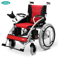Cofoe Electric Wheelchair Folding Portable Trolley Old People Travel Scooter Brougham Quadricycle for the Aged the Disabled