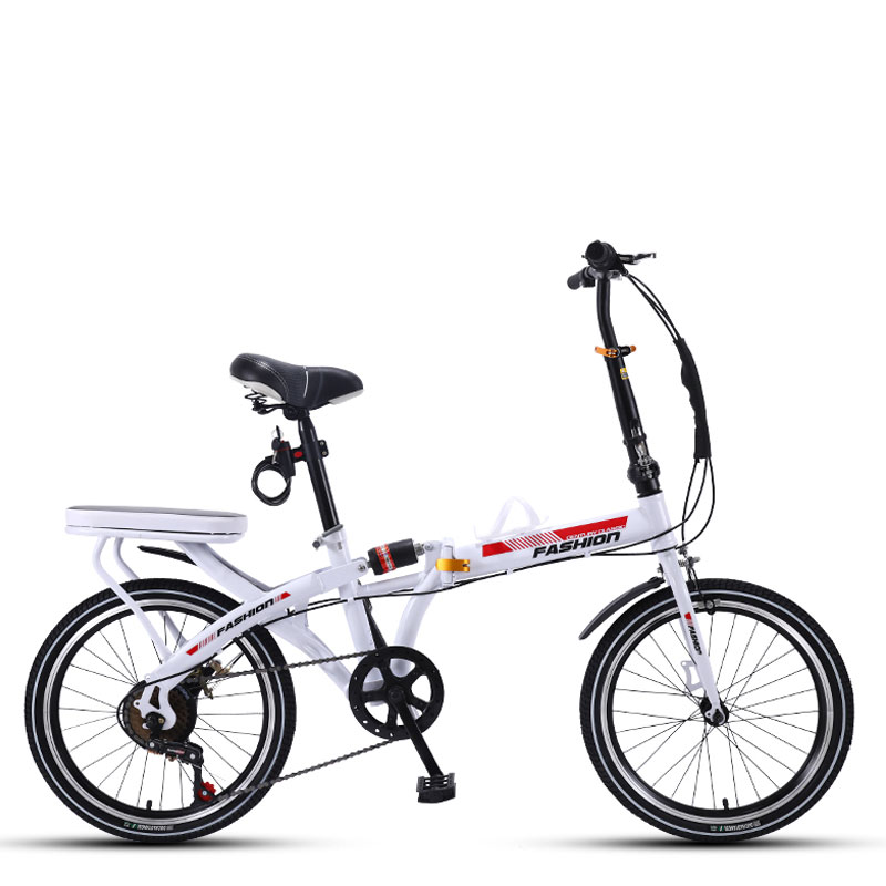 Folding Bicycle 20 Inch Variable Speed Shock Absorption Adult Man And Women Students Ultra Light Bike