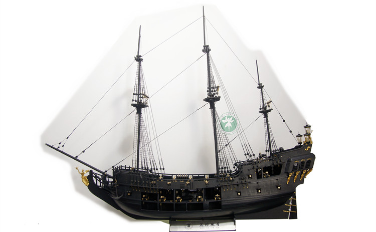 2018 New version Classical wooden sailing boat 1/34 black pearl Pirates of the Caribbean wood model kit with full interior