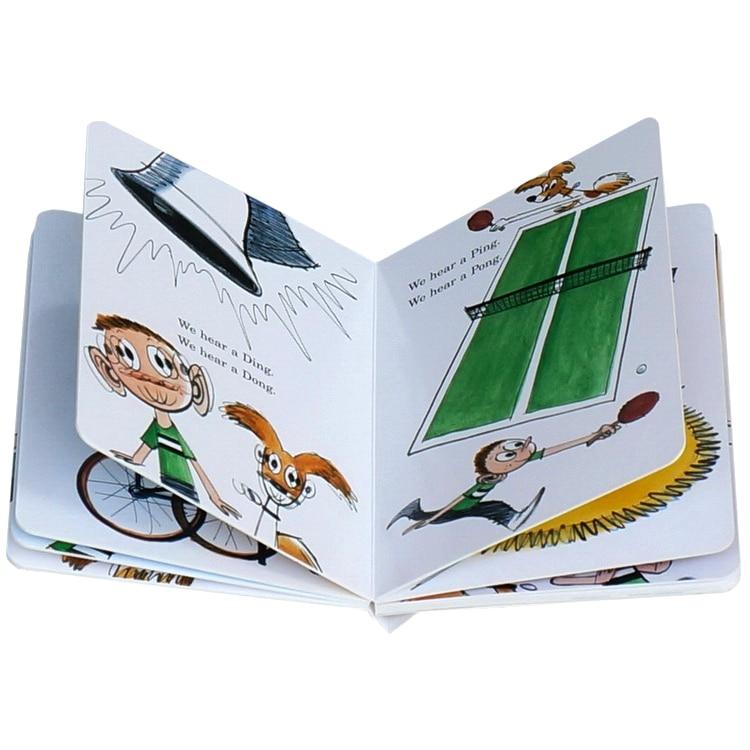 cartão inglês colorir livros para crianças memorie