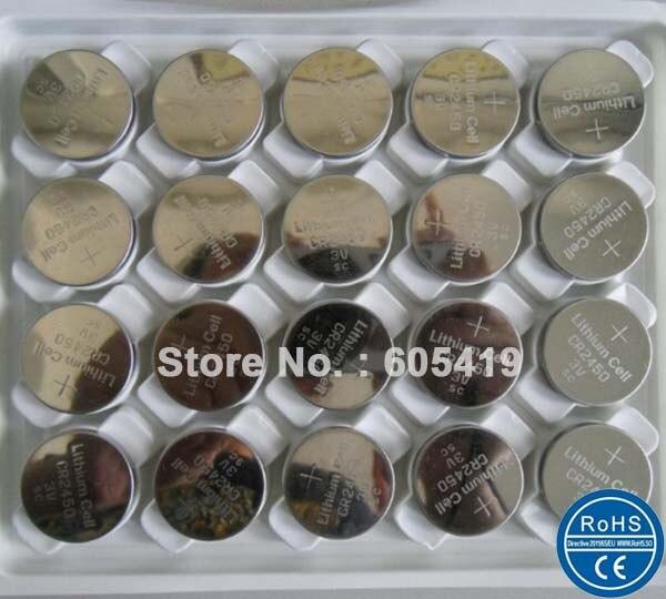 3500 шт./лот CR2450 3 В литиевая батарея клетки кнопки, CR <font><b>2450</b></font> Монета клетки 100% Свежий FedEx UPS бесплатная доставка