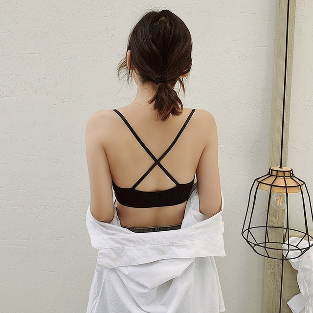 Thin Seamless Backless Wire Free Bra For Women Bralette Sexy Underwear 5