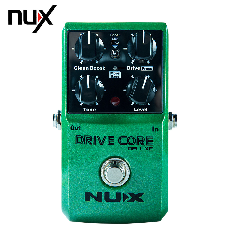 NUX DRIVE CORE DELUXE Electric Guitar Overdrive Effects Pedal Mixture of Booster Powerful and Warm nux time core deluxe delay pedal different types of delays to the upmost ambience