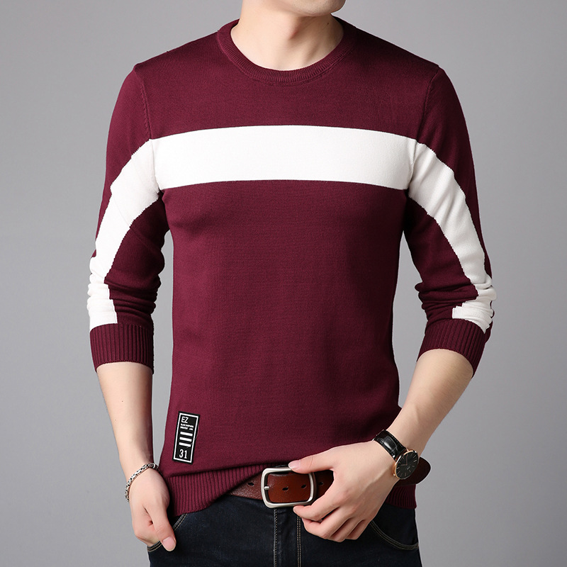 Cheap Wholesale 2019 New Spring Summer Autumn Hot Selling Men's Fashion Netred Casual Beautiful Nice Man Sweater MP17