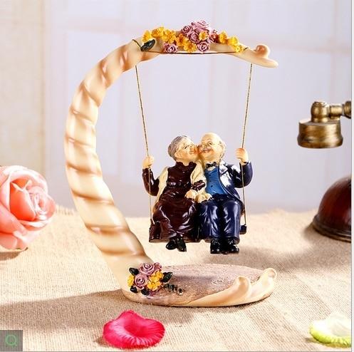 Oscilación ancianos abuelo vieja abuelita ornamentos del