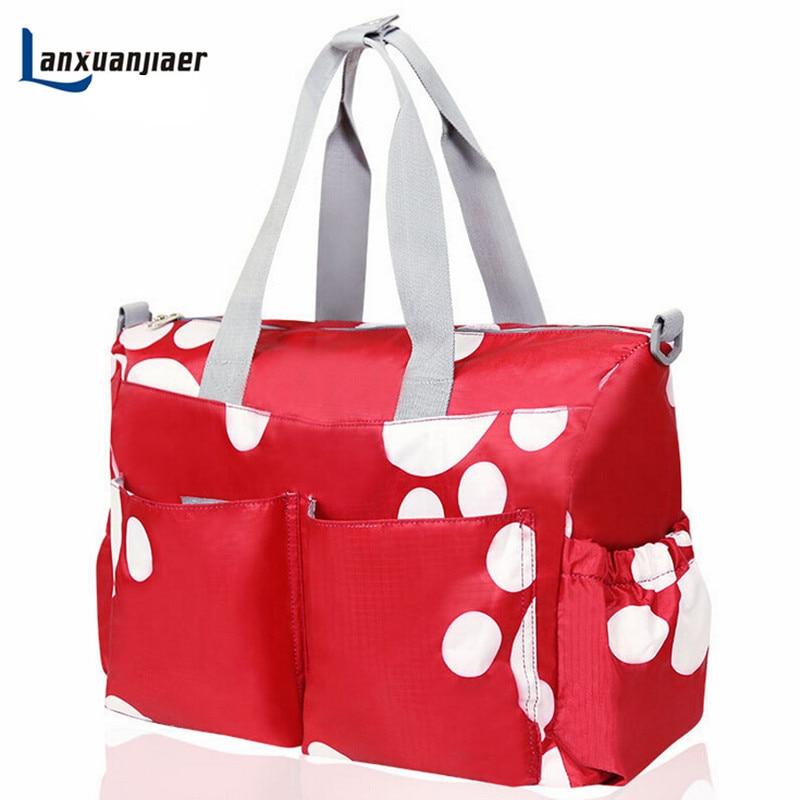 Doprava zdarma Módní 6PCS / Sada velkokapacitní multifunkční vodotěsnáTotě bílé ramenní taškyPokojná maminka na plenky Mother baby bag
