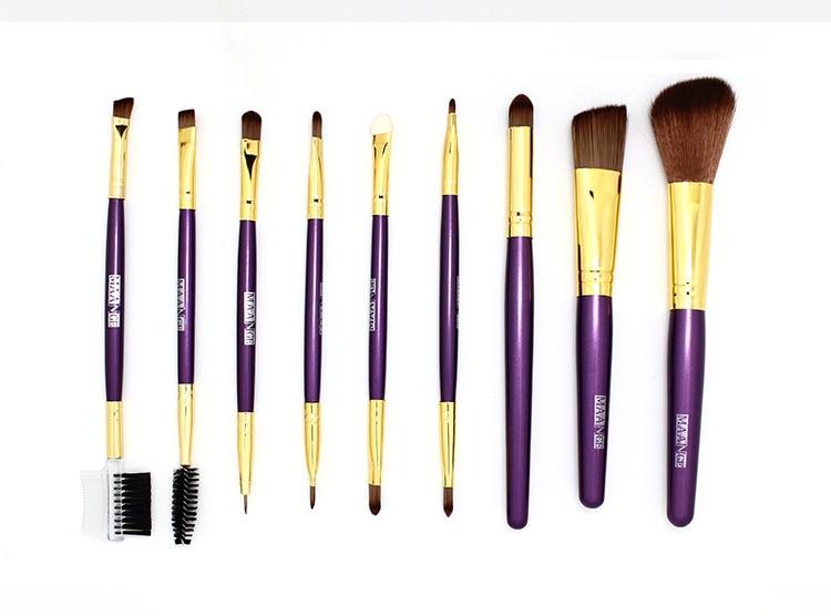 9pcs makeup brush set Foundation Eyeshadow Powder Brush Eye Lashes Mascara Make Up Brushes Tool