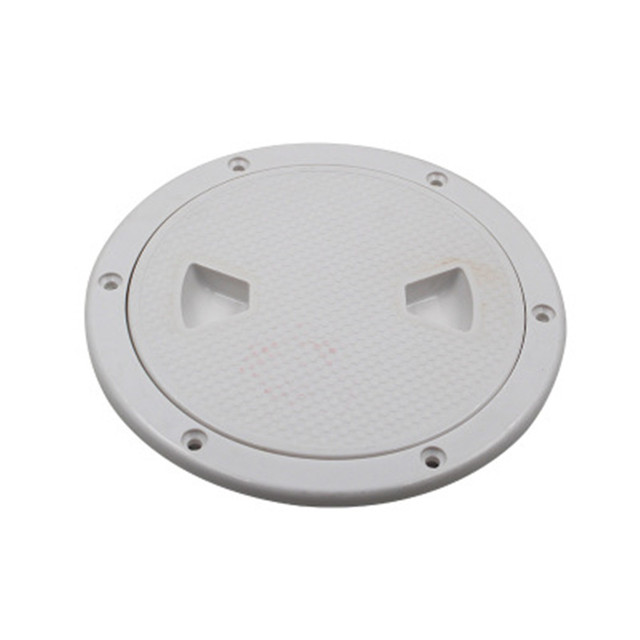 $ 10.46 6 inch Hatch Cover Round Boat Yacht Marine Out Deck Plate Inspection Access ABS White