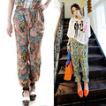 Hot Women's Bohemia Floral Harem Pant Casual Chiffon Bloomers Loose Culottes