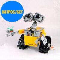 Новый настенный робот legoings WALL E Idea technic фигурки роботов модель строительного блока Кирпичи diy игрушка на день рождения 21303 подарок детям