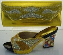 Gelb High Heels Frauen Pumpt Afrikanische Hochzeit Schuh Und Tasche Set Frauen Schuh Und Tasche Zu Passen Für Parteien Pumpen ME2217