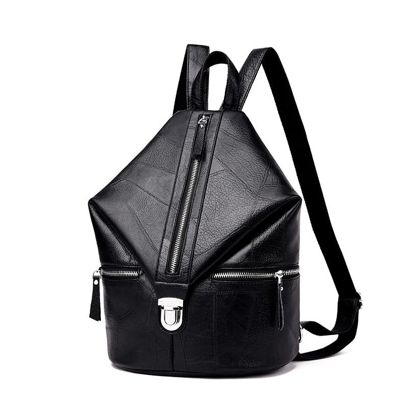 Splice Women Backpack Leather Backpacks For Teenage Girls Female School Shoulder Bag Bagpack Mochila