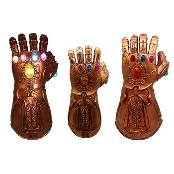 2019 Thanos Infinity Gauntlet Avengers Infinity War Gloves Cosplay Superhero Avengers Thanos Latex Glove Halloween Party Props