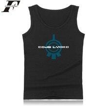 High Quality Code Lyoko Brand Bodybuilding Tank Top Letter Fashion Fitness Workout Tank Top Cotton Summer Vest XXS Plus Size
