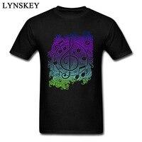 Artistieke Muziek Band T-shirt Klassieke Gekleurde Personeel Mens Katoen T-Shirt Modieuze Hombre Tops Tees Cool Populaire