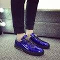 Top venta de la marca de lujo 2016 otoño invierno para hombre zapatos de encaje zapatos casuales zapatos de suela gruesa zapatillas deportivas hombre L111508