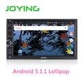 Joying Quad Core 7 Дюймов 1024*600 2 Din Android 5.1 Car Audio стерео Радио С GPS TV 3 Г Wi-Fi Универсальный Gps-навигация Головное устройство