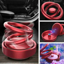 1 pcs 2019 New Style Double Ring Rotating Suspension Aromatherapy Car Solid Perfume Fragrance Air Freshener Accessories