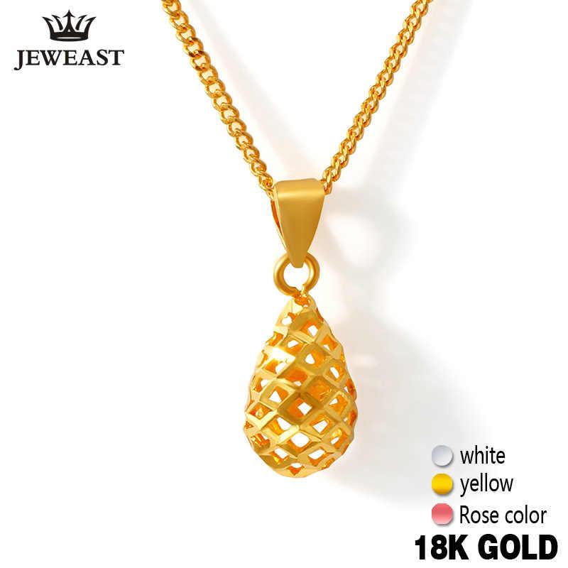 18k จี้ทองคำแท้ Rose สีเหลืองสีขาวผู้หญิงงานแต่งงานหยด Clavicle เครื่องประดับประณีต Charms ขายร้อนอินเทรนด์ 100% ใหม่
