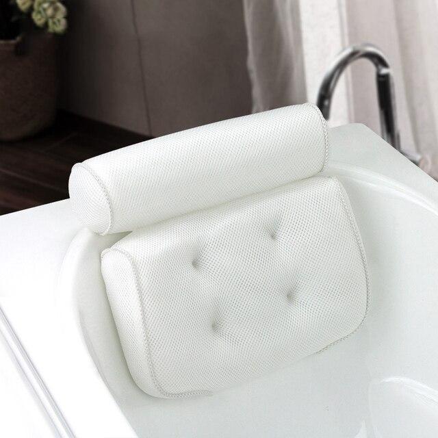 SAFEBET zagęszczony poduszka do kąpieli miękkie SPA zagłówek poduszka do wanny z oparciem przyssawka poduszka na szyję akcesoria łazienkowe