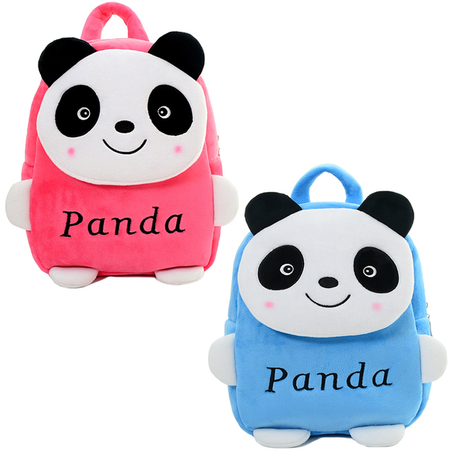 New Cartoon Panda Plush Backpacks Kids Adjustable Backpack Baby Shoulder Kindergarten Bag 2 5 Years Old Birthday Gifts