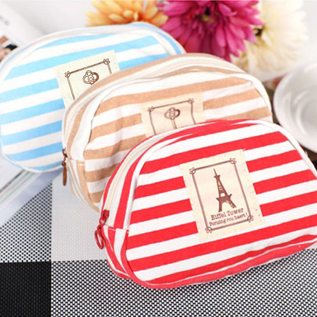 Canvas Navy Style Striped Pencil Case Pen Bag School Office Supplies  Stationery Storage Case Hogard
