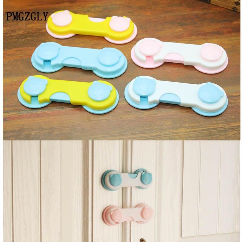 4pcs Baby Child Safety Lock Cabinet Lock Drawer Cupboard Refrigerator Door Desk Plastic Locks Protection From Children Saftey