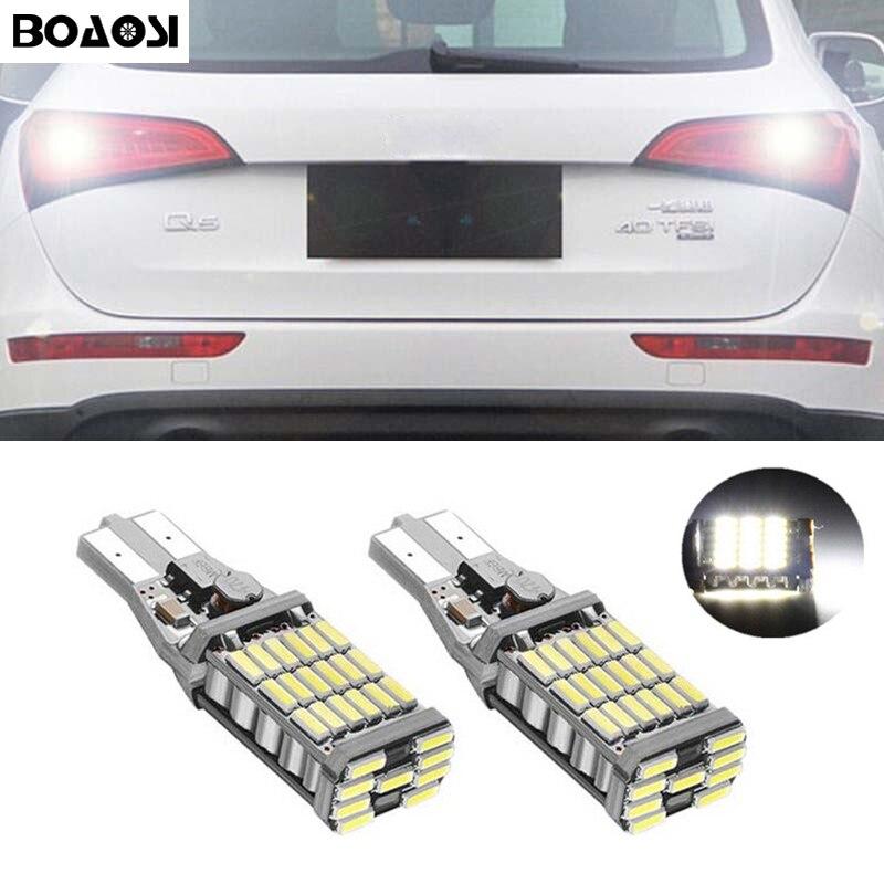 BOAOSI 2х по canbus t15 светодиодные автомобиля резервную Обратный стоп парковка свет лампы лампы для Audi В5 В7 ТТ С3 С4 С5 С8 А7 В3 А1 А3 А4 А5 A6L A4L