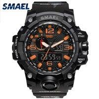 Orange Camouflage Military Watches SMAEL Brand Watch Digital LED Wristwatch Sport 1545B Mens Watch LuxuryClock Men