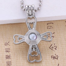 6pcs Bright Silver Love Pearl Cage (China)