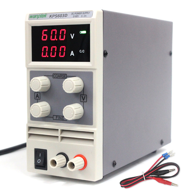 60V 3A DC Regulated Power High Precision Adjustable Supply Switch Power Supply Maintenance Protection Function KPS603D