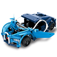 Remote RC Series Super Blue Bugatti Sports Car City Building Blocks Bricks Toy Compatible Legoed Technic Racing Cars Boy Toys цена