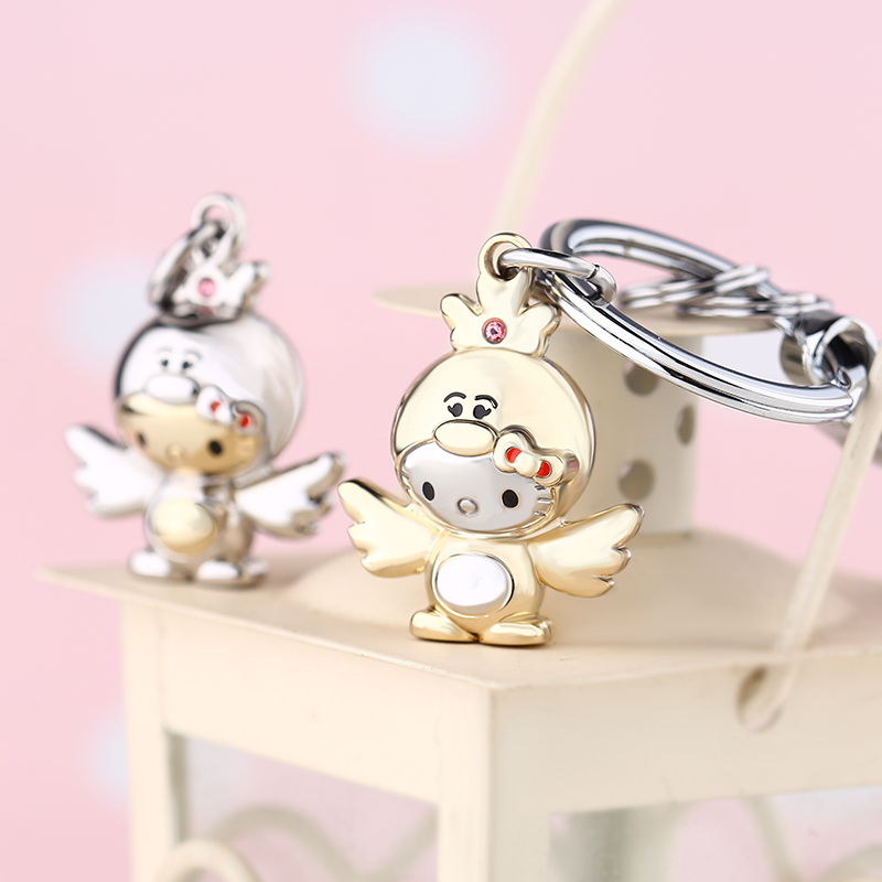 KT - 2017 Brand Cute Chickabiddy Cartoon Chicken Key Key Rings - Κοσμήματα μόδας - Φωτογραφία 1