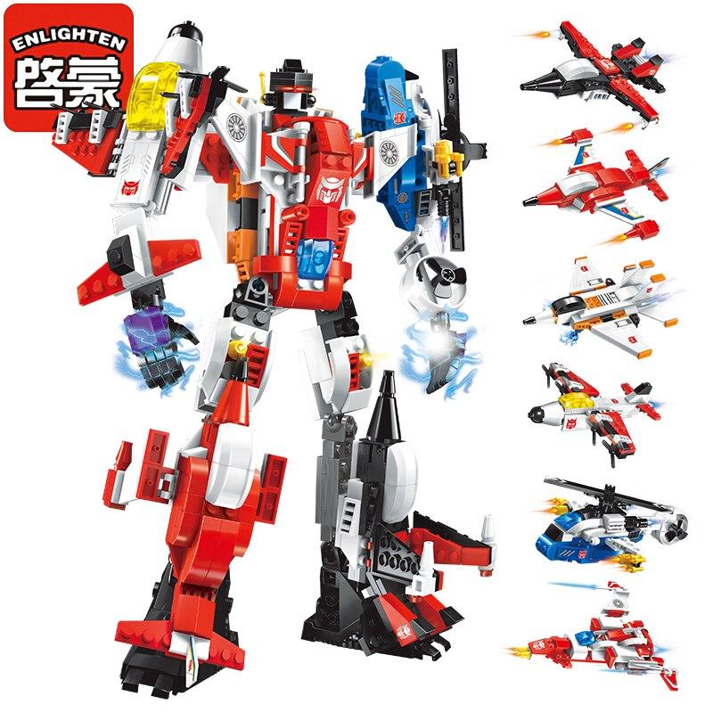 Cahaya Mecha Pendidikan Blok Bangunan Mainan Kanak-kanak Robot Truck - Mainan pembinaan - Foto 4