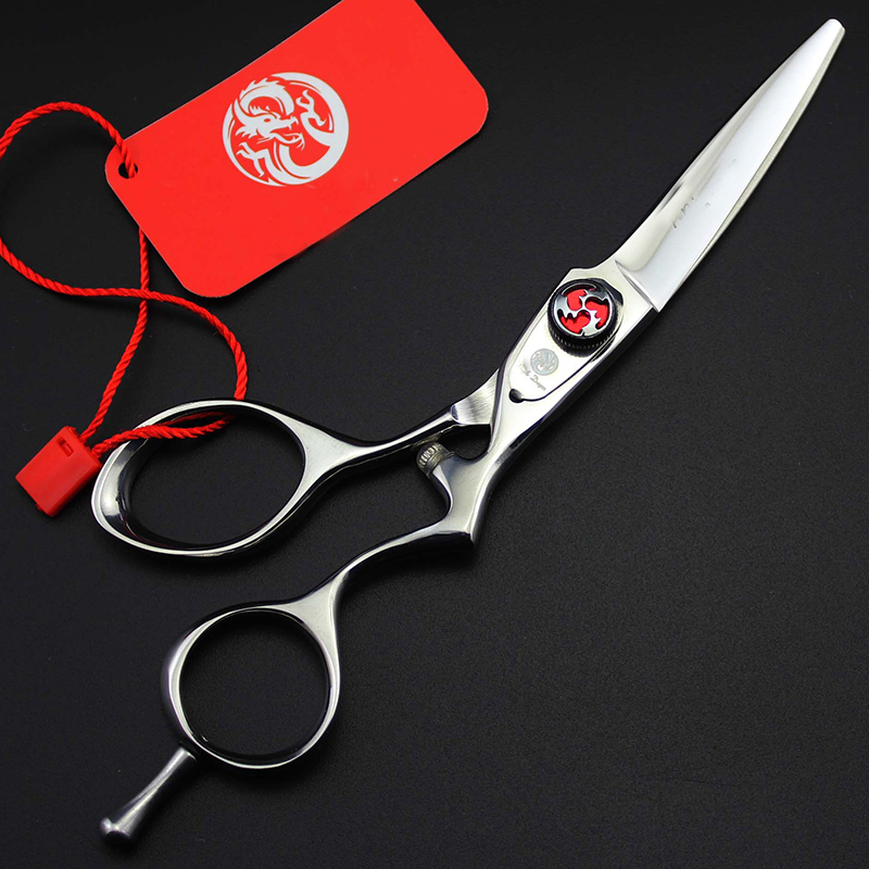5.5inch Big Small Circle Handle Straight Scissor Hair Cut Personality Pet Grooming Shear 440C Stainless Steel