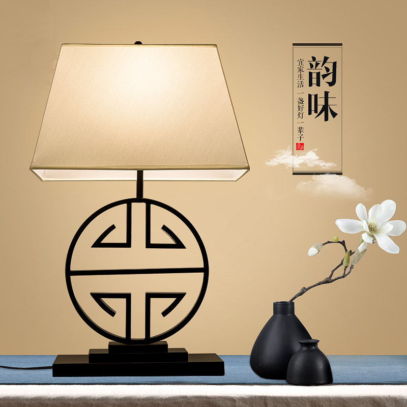 New chinese style table lamp bedroom bedside lamp modern brief vintage decoration lamp fashion bedroom bedside table lamp brief decoration glass table lamp e27