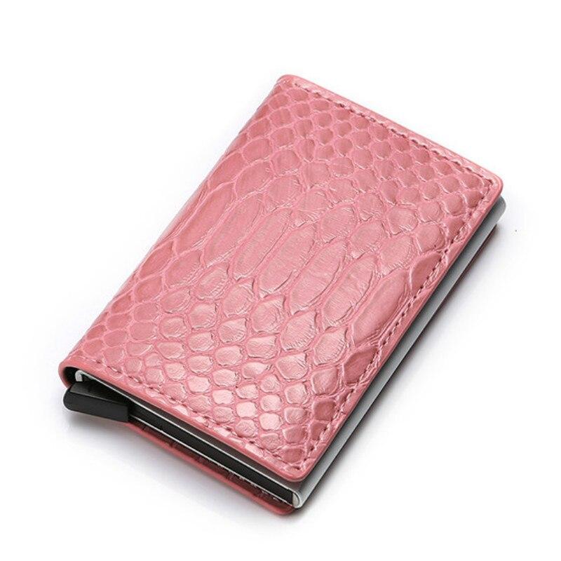 Metal Wallet Card-Holders Business Blocking Rfid Bisi Goro PU Cash-Bank Anti-Thief Slim
