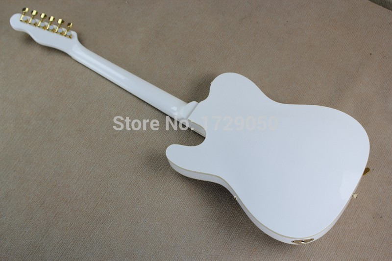 2017 Chinese Factory Custom new TL white Semi Hollow Body Guitar Jazz Electric Guitar with Bigsby Golden Hardware 917