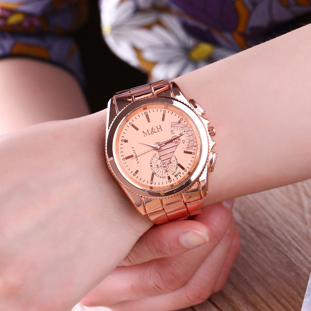 2017 New Top Brand Luxury Watches Women Stylish Rose Gold Watches ...