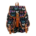 Vintage Women's Travel Rucksack Butterfly School Bag Satchel Bookbags Backpack Black
