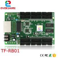 Network port LED screen control card TF RB01 full color 256*256 pixels 1/32 scan led display receiving card