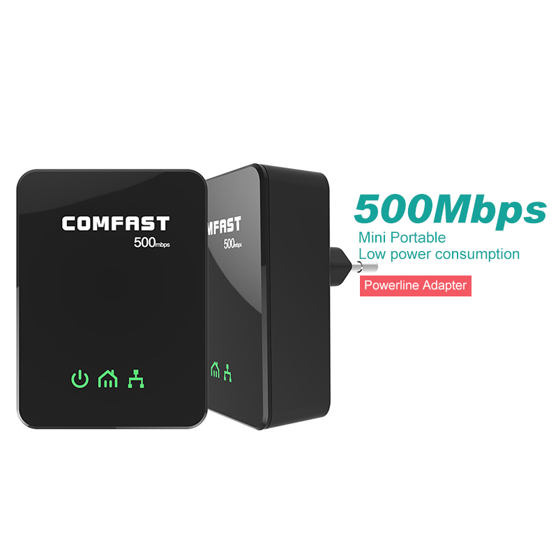 4pcs lot Comfast CF WP500M 500Mbps PowerLine Adapter modem PLC with Ethernet 500mpbs EU HomePlug Power