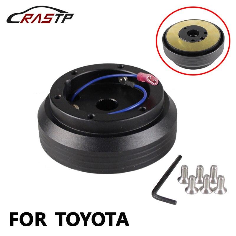 RASTP-Aluminum & Plastic Car Steering Wheel Hub Adapter Slim Thin for Toyota RS-QR009