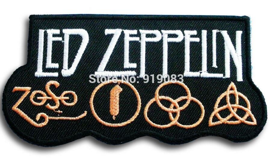 Led Zeppelin embroidery patch Heavy Metal Music Rock band Punk Rockabilly Cap sew on iron on badge halloween cosplay    1